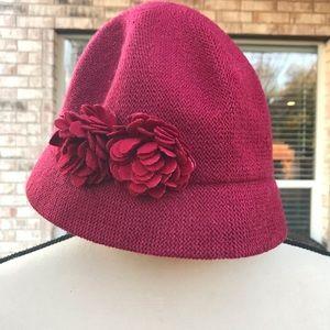 August Hats Melton Cloche Burgundy Hat
